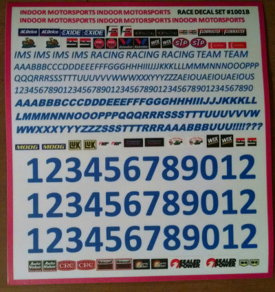 IMS blue universal decal sheet cut peel stick high quality vinyl - Product Image