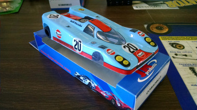 JK Cheetah 21 Gulf Porsche 917 ready to run complete car Hawk 7 motor - Product Image