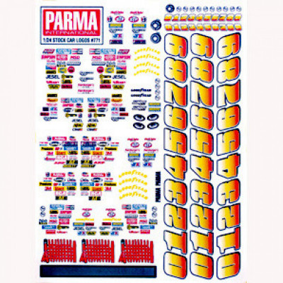 Parma 771 Sponsor decals w/Nascar acccesories + - Product Image