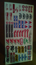 Slot Car Decals for Nascar, GTP , Can Am